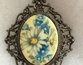 Vintage Florenza Victorian Revival Pendant Necklace