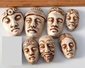 Seven Flatback Faces