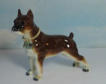 Vintage Ceramic  Boxer Dog Figurine. Japan.