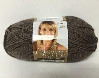 Lion Brand Vanna's Choice Yarn - Taupe - 3.5 oz/100 g