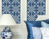 Fabiola Tile Stencil - Size: Small - Reusable Stencils for Walls - DIY Wall Design - Great for Stair Risers