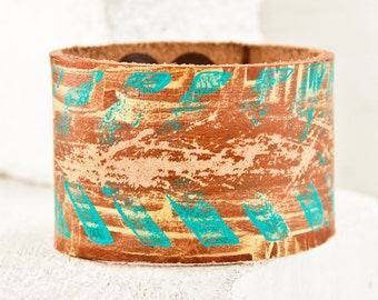 Summer Bracelet Leather Jewelry Cuff - 2016 Unique Original - Leather Cuffs For Women