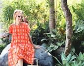 Irra Dress, Midi,Summer, Spring, Boho, Beach, Cover Up, Maternity, Plus Size, Orange, Follow me on Instagram: @mybalicloset