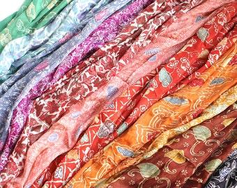 Silk, Batik, Hand Stamped, Bali, Indonesia, 20 inches x 60 inches