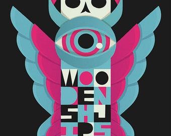 Wooden Shjips Silkscreen Poster