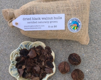 Natural Dye Black Walnut Hulls Certified Naturally Grown