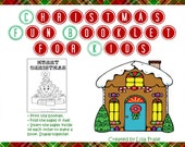 Printable Christmas Fun Booklet for Kids with Coloring Pages, Activities, Santa Letter, and Puzzles