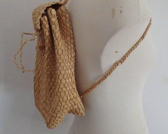 Woven Basket Bag Vintage Backpack