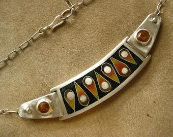 Cloisonne jewel Choker necklace