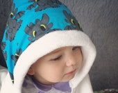 Bamboo Hooded Toddler Bath Towel:Blue Dragons