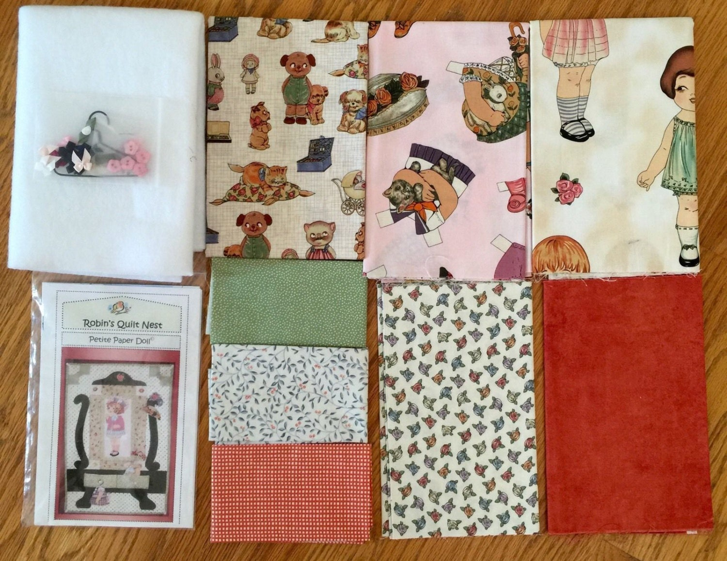 Petite Paper Doll Quilt Kit Complete W Pattern Windham By