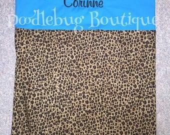 Leopard print nap mat cover