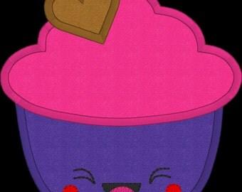 Cute cupcake applique design.