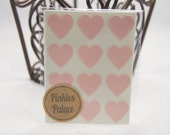 36 Baby Pink Heart Stickers 3/4 Inch Stickers Envelope Seals Packaging Stickers Baby Shower Stickers