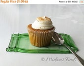 ON SALE Large Melted Mason Jar made from a green Ball quart, spoon rest, tray, plate, dessert dish, ring dish, gift box included