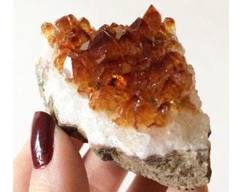 Citrine Crystal, Gemstone, Mineral, Metaphysical New Age Reiki Healing, Solar Plexus Chakra