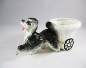 Poodle and Carriage Planter, 1950's Poodle Planter