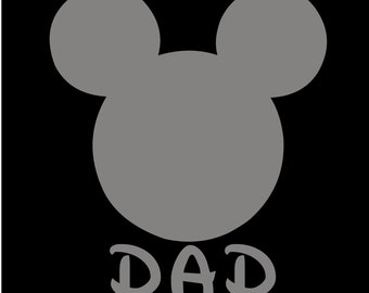 Mickey Mouse Dad SVG JPEG instant digital file download for vinyl cutters