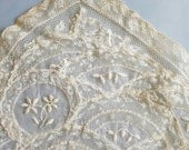 Two rare delicate antique lace doilies.