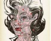 SALE t-shirt unisex beauty school dropout hairstylist cosmetologist  L punk art avant garde stylist