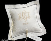 Irish Linen Ring Bearer Pillow, Personalized Ring Bearer Pillow, Style 5821
