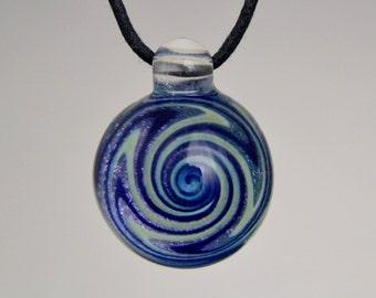 Glass Jewelry - Hand Blown Boro Lampwork Dichro Swirl