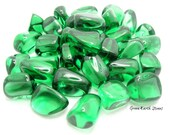 ONE Green Obsidian Glass Tumbled Stone, Crystals, Metaphysical, Feng Shui, Craft, Supply,