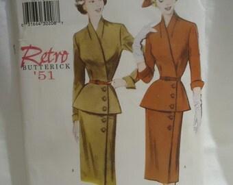 Retro 1950s Butterick Suit Pattern Uncut size 20-22-24