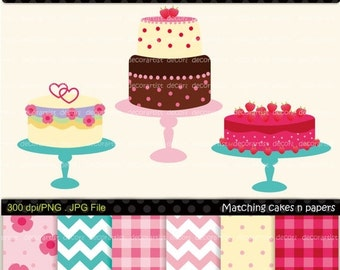 ON SALE clip art, Digital clip art for all use, Matching cake clip art n digital paper 1, INSTANT Download