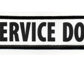 Service Dog in Black ADA Medical Alert Gear Black Rim Sew-on Patch (Choose Size)