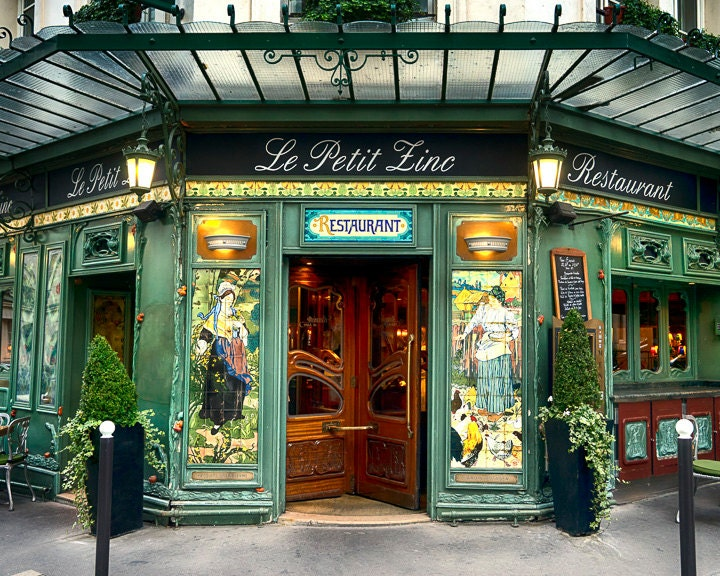 Paris cafe photo le petit zinc decor restaurant