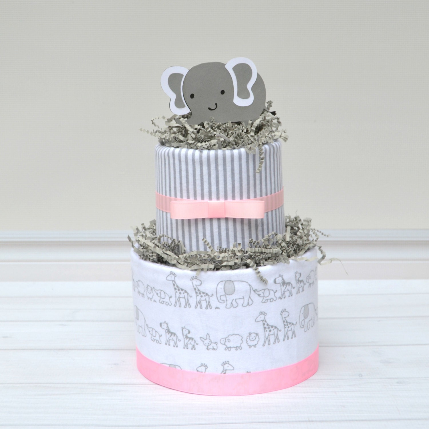 Pink and Gray Baby Shower Elephant Baby Shower Centerpieces Pink