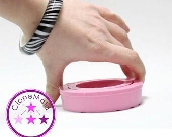Bangle Mold Thin Rounded Bracelet Silicone Rubber Mold