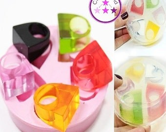 25% SALE 5 Flat Rectangle Ring Mold