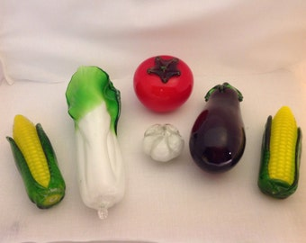 Collection of Glass Murano Vegetables (K-66)
