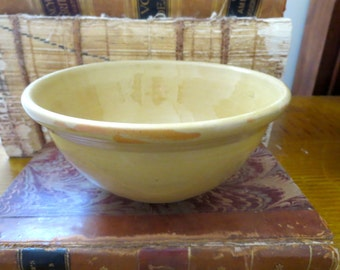 Vintage yellowware bowl, vintage yellow ware bowl small yellowware bowl plain yellowware bowl small collectible bowl yellow ware mixing bowl