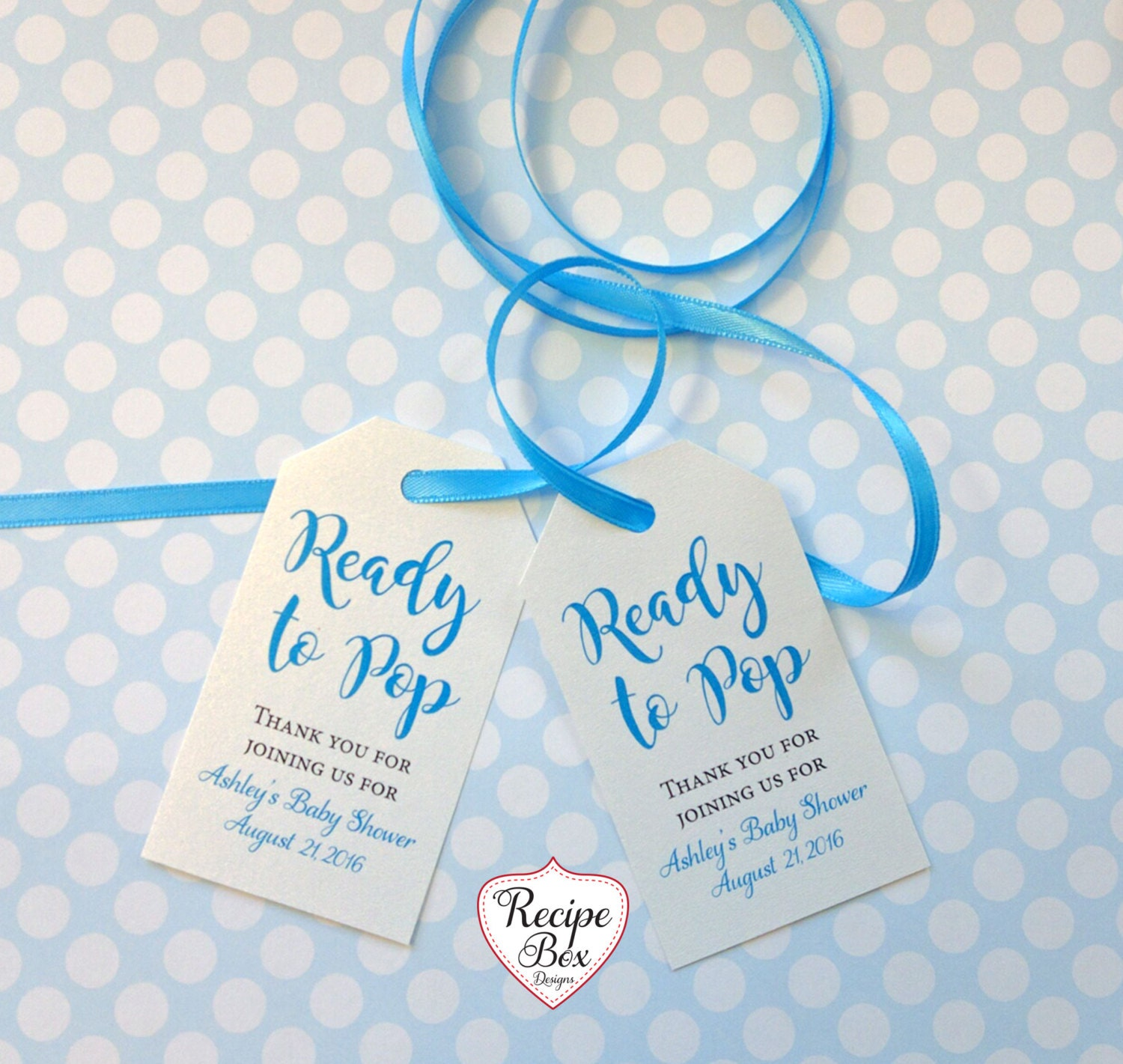 Baby shower favor tags baby shower tags ready to pop girl - Baby shower favor tags ...