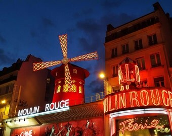 Moulin Rouge - Fine Art Original Photograph, Montmartre, Paris, Wall Art, Home Decor