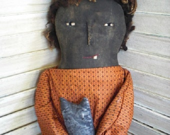 Primitive Halloween Witch Doll