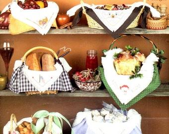 Holiday Bread Cloth Easter Rabbit Flag Cornucopia Leprechaun Shamrock Counted Cross Stitch Embroidery Craft Pattern Leaflet Leisure Arts 462