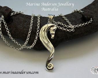 Rhythm Horse Pendant in Sterling Silver