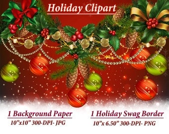 Holiday Clipart, Clipart, Holiday Border, Christmas Background