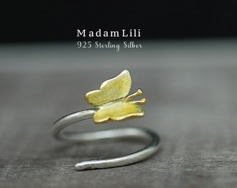 """925 Sterling Silver Ring """"Butterfly"""""""