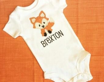 Little Fox onesie - Forest Animal Fox Onesie - Personalized