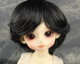 """Fatiao - New Dolls Wig Dollfie Yo-SD 1/6 BJD 6-7"""" size Black"""