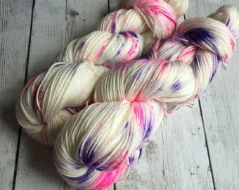 Hand Painted Hand dyed indie dyed sock yarn fingering speckled weight 430 yds SWM/Bamboo RTS Pixie-Stix™