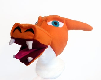 Charizard Inspired Hat, Orange Dragon, 5 Sizes.