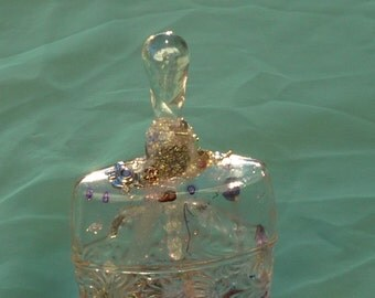 Altered Bottle, Spirit Jar, Teardrop Jar by mystic2awesome