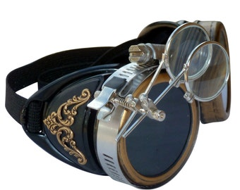 Steampunk GogGLes VicTORian Novelty Glasses cosplay Antique filigree S2