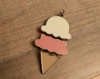 Neapolitan Ice Cream Necklace Charm